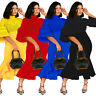 New Women Mesh Patchwork Solid Color Bodycon Cocktail Party Long Fishtail Dress