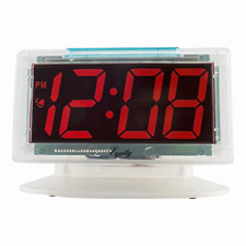 Alarm Table Clock Clear LED Digital Large Number Display Electric Powered Time