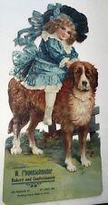 ST Louis Mo Piepenschneider Bakery Confectionery Diecut Calendar Rare Sign Dog