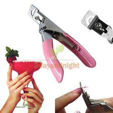 Pink Nail Edge Art Manicure Acrylic Gel False Tips Clipper Cutter nail scissors
