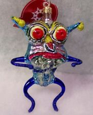 Slavic Treasures Retired Glass Ornament - Tu Face (alien) 2001