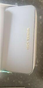 Michael Kors Leather Zip around Wallet Grey