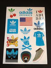 12 Adidas  Skateboard Longboard Vintage Vinyl Sticker Laptop Car Decals