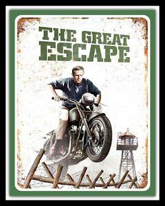 THE GREAT ESCAPE STEVE McQUEEN WAR FILM MOVIE METAL SIGN TIN PLAQUE POSTER 901