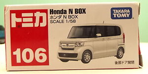 TOMICA 2018 No.106 HONDA N BOX 1/58 SCALE MIB