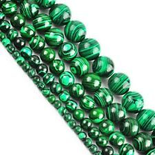 PERLE RONDE EN MALACHITE 6MM X15