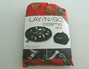 """NEW LAY N GO COSMO Plus 21"""" Cosmetic Bag Travel Organizer Makeup Pouch Pineapple"""