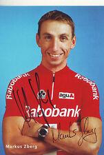CYCLISME carte cycliste MARKUS ZBERG équipe RABOBANK 2000 signée