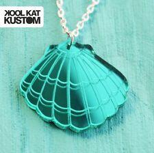 MUSCHEL Kette Meerjungfrau Mermaid Necklace Seashell Sommer Halskette TÜRKIS
