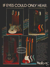 WESTONE GUITAR & BASS PINUP AD vtg 80's Concord Thunder