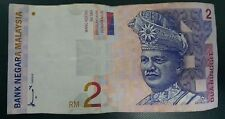 Old Bank Note RM 2 Malaysia