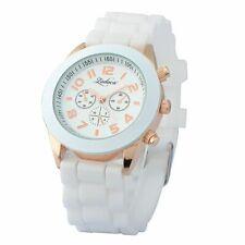 Белый унисекс, мужской, Женский, силиконовые гелевые кварцевые аналоговые спортивные наручные часы новые