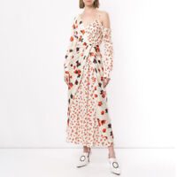 Red White Floral Maxi Dress Harper  Portrait People Free Self Delivery