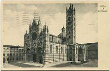 1934 Siena La Cattedrale Esterno Facciata Campanile Piazza France FP B/N VG