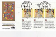 United Nations 1991 Human Rights Series unadressed (2) FDC