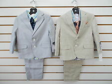 Infant/Toddler Boys Nautica $89.50 4pc Lt Gray or Lt Khaki Suits Size 6/9mo-4T/4