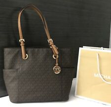 Michael Kors Handbag Purse MK Monogram Jet Set Designer Bag