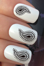 NAIL ART SET #679 x20 INDIAN ETHNIC SWIRLY HENNA WATER TRANSFER DECALS STICKERS