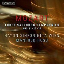 MOZART: THREE SALZBURG SYMPHONIES NEW CD