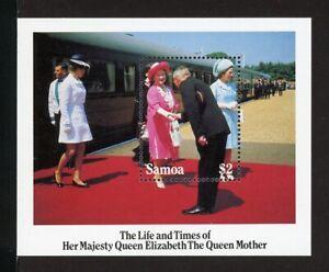 Samoa Scott #653 MNH S/S Queen Mother Elizabeth's 85th Birthday CV$4+