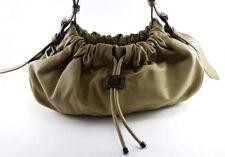 BURBERRY Warrior Beige Leather Hobo Shoulder Bag