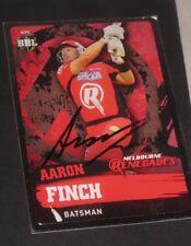 Aaron Finch  (Australia) signed Melbourne Renegades  Cricket Card + COA