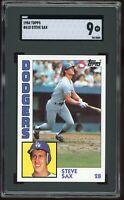 1984 Topps #610 Steve Sax SGC 9 = PSA 9? MINT Dodgers Graded Card
