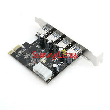 5 Gbps 4 Port USB 3.0 Hub PCI-E PCI Express Card Adapter for XP Win7 32/64 Bit