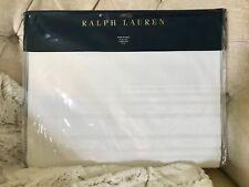 GORGEOUS RALPH LAUREN HOME TUXEDO PARK ROBYN THROW ~ WHITE WITH FRINGE ($355.)