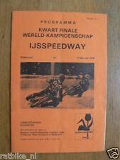 1979 ICESPEEDWAY,IJSSPEEDWAY KWART FINALE WK DEVENTER 11-2-1979 PROGRAMMA