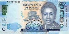 Malawi 200 Kwacha 2016 Unc Pn 60c