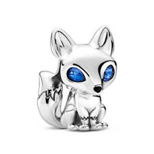 New Authentic Pandora Silver Blue-Eyed Fox Charm 799096C01