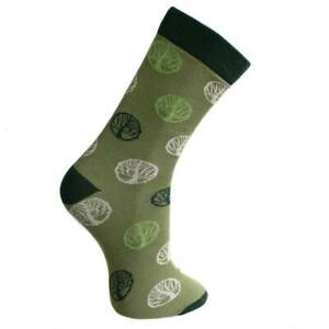 GREEN TREE OF LIFE BAMBOO SOCKS fair trade men's one size 7 to 11 NEW!