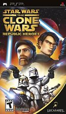 NEW  Sealed STAR WARS THE CLONE WARS REPUBLIC HEROES for Sony PSP Console D25