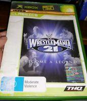 Wrestlemania 21 (no booklet) MICROSOFT XBOX -FREE POST