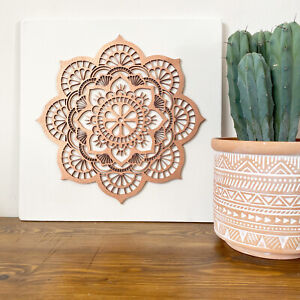 Large Mandala Wall Art - Wooden Wall Art | Boho Decor |  Wall Décor | Copper