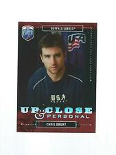 2006-2007 BE A PLAYER HOCKEY UP CLOSE & PERSONAL CHRIS DRURY #UC10 591/999