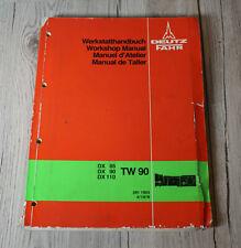 Reparaturhandbuch Deutz DX85 DX90 DX 110 Werkstatthandbuch Getriebe TW90
