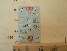 STICKER,DECAL SHEET WITH STICKERS INTRODUCT DISNEY DALMATIANS BOEKENCLUB
