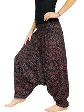 SAROUEL Coton Jersey (34 36 38 40 42 44 46) taille unique Noir fleur rouge