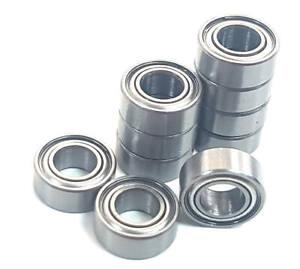 10 x Rolling Ball Bearings 10mm x 5mm x 4mm 10x5x4 10 x 5 x 4 Stainless Steel