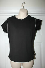 Ladies Black Umbro Football Top Size 18 Sports Vest Aerobic Fitness Gym T-Shirt