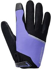 Shimano Women's, Original riding-cycle-bike Long Gloves, Purple, Medium