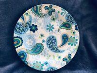 "3 NEW PLATES — Royal Norfolk Paisley Print Dinner Plates 10"" NEW"