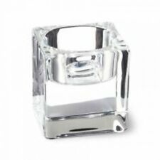 Bolsius 12 x moderno vetro trasparente quadrato cubo LUMINO VOTIVA SUPPORTI
