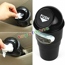 Office Home Auto Car Waste Trash Rubbish Bin Can Garbage Dust Case Holder