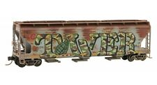 Soo Line/CP Rail 3Bay Covered Hopper Weathered & Graffiti MTL#094 51 092 N-Scale