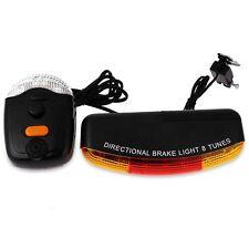 New! XC-408 Bicycle Bike Cycling 7 LED Turn Night Brake Light Lamp 8-Sound Horn