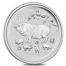 YEAR OF THE PIG AUSTRALIAN LUNAR SERIES II 2019 1 oz Silver Bullion Coin PERTH