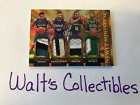 2015-16 Gold Karl Anthony Towns Newly Minted Memorabilia Quads/25 RC Jsy